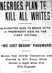 "Leaflet: ""Negroes plan to kill all whites"""