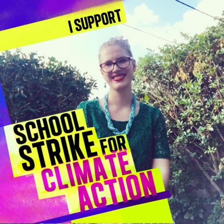 Daisy Thomas supports school strike for climate action