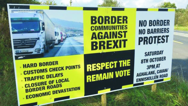 Anti brexit sign N Ireland