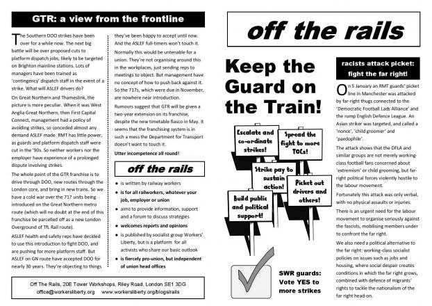 Off The Rails bulletin - February 2019