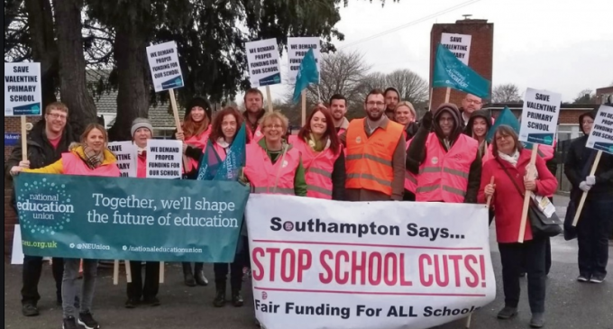 School cuts protest