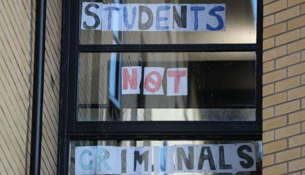 """Students not criminals"""