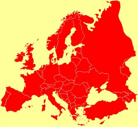 Europe in red