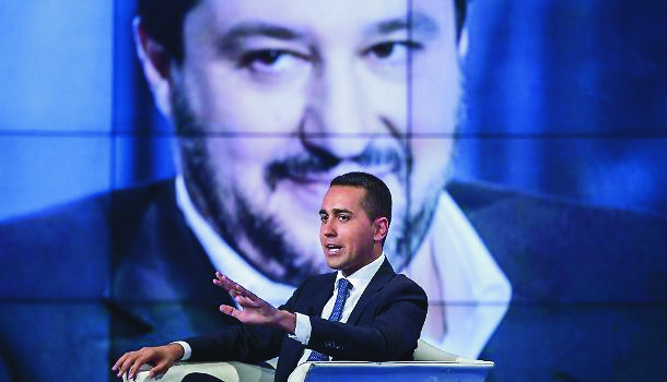 Foreground Di Maio, background Salvini