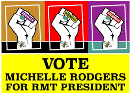 Michelle Rodgers for RMT president leaflet