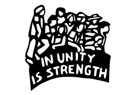 """In unity is strength"" graphic"