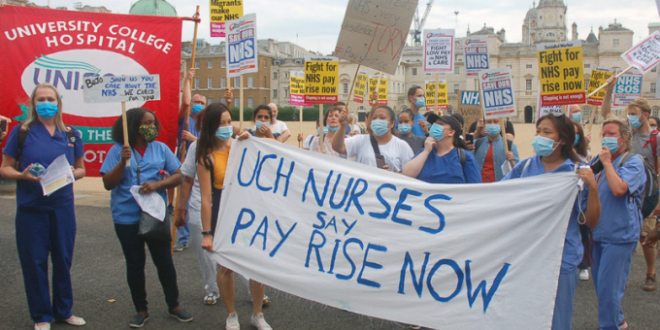 NHS workers' demo