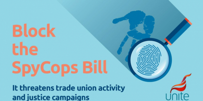 Unite Spy Cops Bill graphic