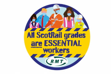 RMT Scotrail badge