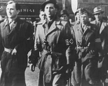 Fascist Arow Cross marching in Budapest