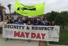 The Warehouse Workers' Resource Centre marches with the Coalition for Humane Immigrant Rights on May Day 2018 in Southern California