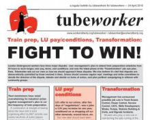 Tubeworker — 24/04/2019: Fight to Win!