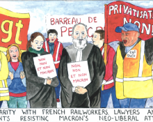Solidarity with strikes in France