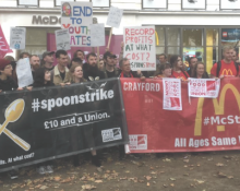 McStrike protest in Leicester Sq