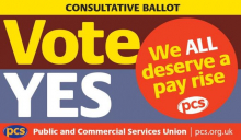 Vote YES in the PCS pay ballot!