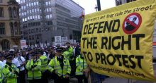 Defend the right protest