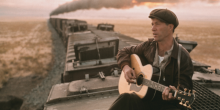 Woody Guthrie depicted in Bound for Glory