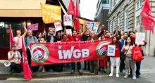Henry Chango Lopez and other IWGB activists