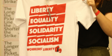 Workers' Liberty t-shirt