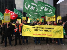 Merseyrail workers picket against Driver Only Operation