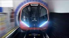 Graphic impression of a new Tube train