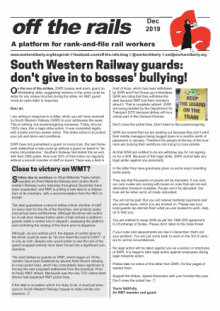 Off The Rails bulletin - December 2019
