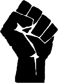 Raised fist graphic