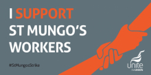 St Mungo's strike graphic