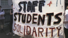 Staff student solidarity banner