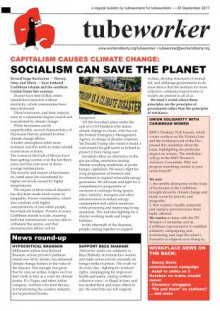 Tubeworker — 28/09/2017: Capitalism Causes Climate Change