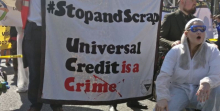 Universal Credit protest