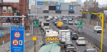 Traffic at the Blackwall Tunnel