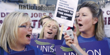 Doncaster care workers on strike