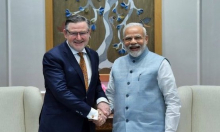 Barry Gardiner with Modi
