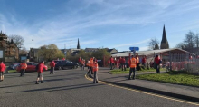 Socially distance Royal Mail picket line