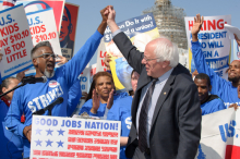 Sanders supports strikes