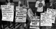 Sex workers' protest