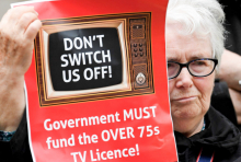 Free TV licence for over 75s protest