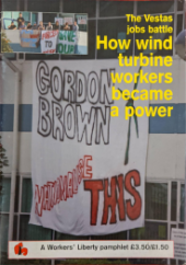 "Pamphlet Cover ""The Vestas Job Battle: How Wind Turbine Workers Became a Power"""