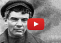 Lenin mugshot as a video
