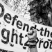 Defend the right to protest