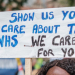 NHS workers' sign