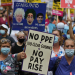 NHS workers' protest