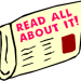 "A graphic illustration of a newspaper with a headline reading ""Read All About It"""
