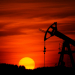 Sunset and oil