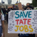 Tate workers' demo