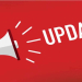 "A graphic showing a hand holding a megaphone, with the word ""update"""