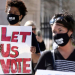Voting rights protest