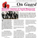 "Front cover of On Guard - April 2021 issue. Headline reads: ""Worker's Control of Covid Measures"""