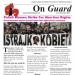 "On Guard - December 2020, front page headline ""Polish Women Strike For Abortion Rights"""
